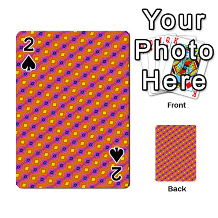 Vibrant Retro Diamond Pattern Playing Cards 54 Designs