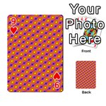 Vibrant Retro Diamond Pattern Playing Cards 54 Designs  Front - Heart9