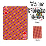 Vibrant Retro Diamond Pattern Playing Cards 54 Designs  Front - Heart10
