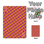 Vibrant Retro Diamond Pattern Playing Cards 54 Designs  Front - Diamond2