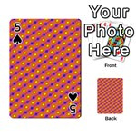 Vibrant Retro Diamond Pattern Playing Cards 54 Designs  Front - Spade5