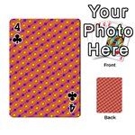 Vibrant Retro Diamond Pattern Playing Cards 54 Designs  Front - Club4
