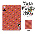 Vibrant Retro Diamond Pattern Playing Cards 54 Designs  Front - Club8