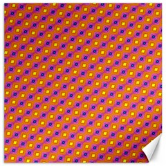 Vibrant Retro Diamond Pattern Canvas 12  x 12