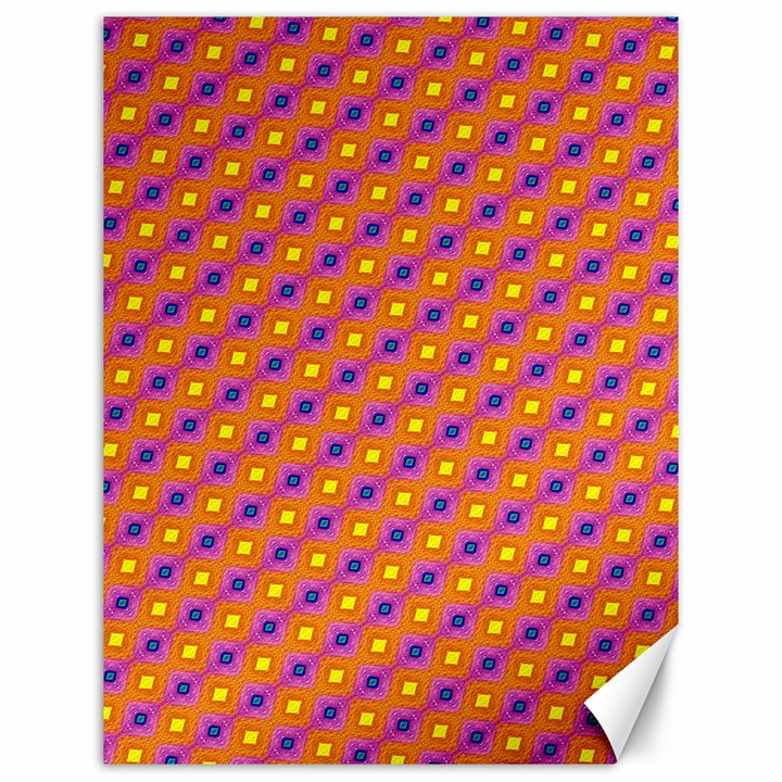 Vibrant Retro Diamond Pattern Canvas 12  x 16