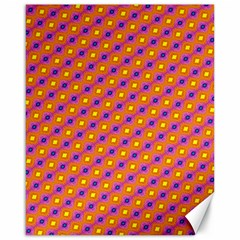 Vibrant Retro Diamond Pattern Canvas 16  x 20