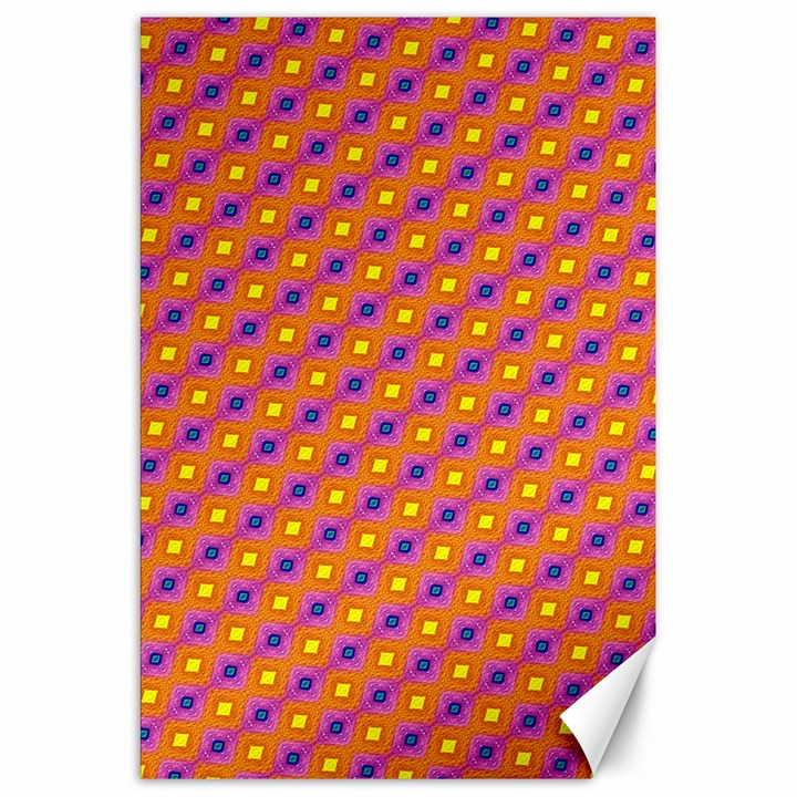 Vibrant Retro Diamond Pattern Canvas 20  x 30