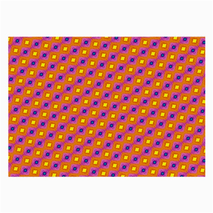 Vibrant Retro Diamond Pattern Large Glasses Cloth
