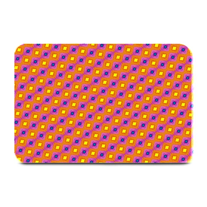 Vibrant Retro Diamond Pattern Plate Mats