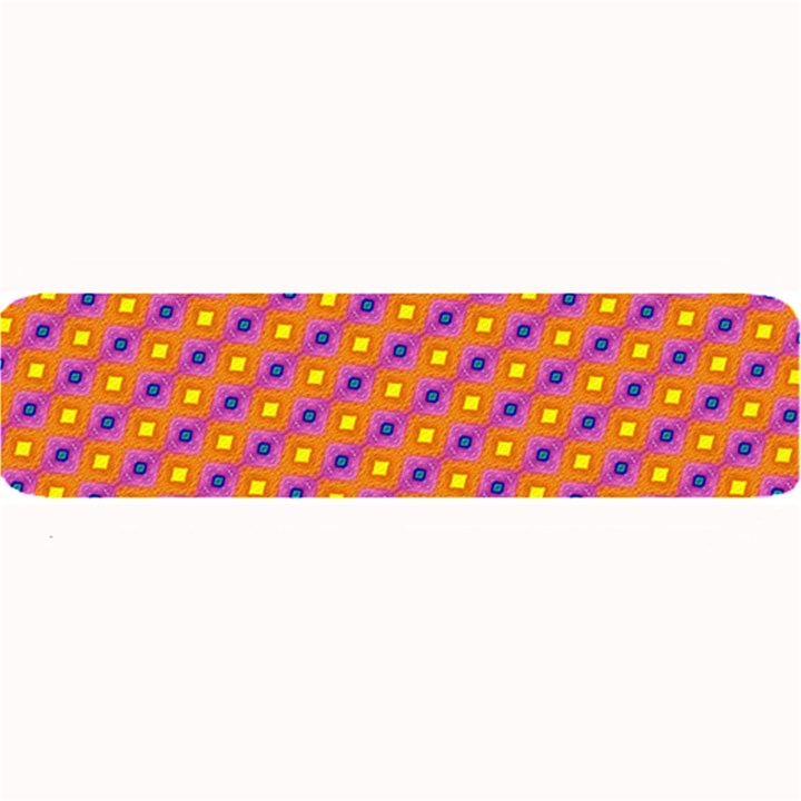 Vibrant Retro Diamond Pattern Large Bar Mats