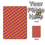 Vibrant Retro Diamond Pattern Multi-purpose Cards (Rectangle)  Back 1