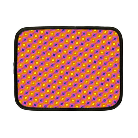 Vibrant Retro Diamond Pattern Netbook Case (Small)