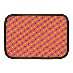 Vibrant Retro Diamond Pattern Netbook Case (medium)