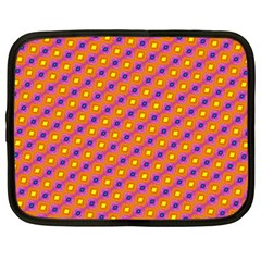 Vibrant Retro Diamond Pattern Netbook Case (Large)
