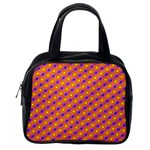 Vibrant Retro Diamond Pattern Classic Handbags (One Side) Front