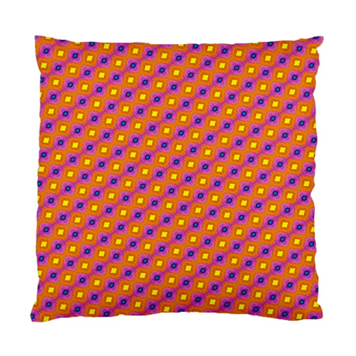 Vibrant Retro Diamond Pattern Standard Cushion Case (Two Sides)
