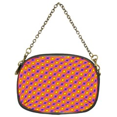 Vibrant Retro Diamond Pattern Chain Purses (two Sides)