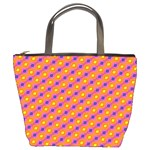 Vibrant Retro Diamond Pattern Bucket Bags Front