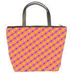 Vibrant Retro Diamond Pattern Bucket Bags Back