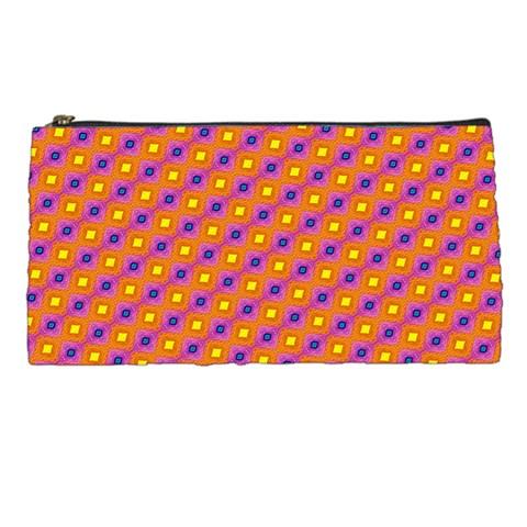 Vibrant Retro Diamond Pattern Pencil Cases