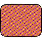 Vibrant Retro Diamond Pattern Double Sided Fleece Blanket (Mini)  35 x27 Blanket Back