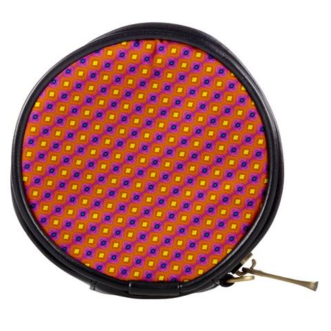 Vibrant Retro Diamond Pattern Mini Makeup Bags