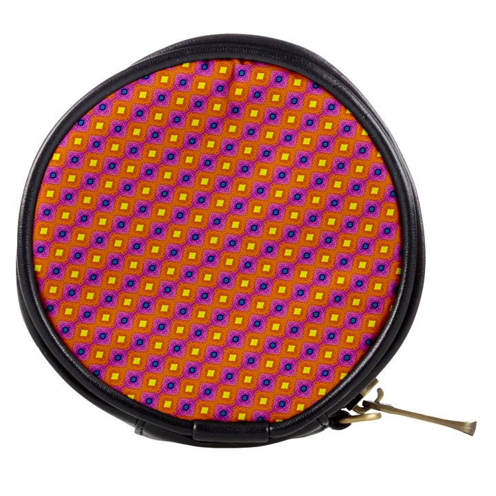Vibrant Retro Diamond Pattern Mini Makeup Bags