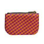 Vibrant Retro Diamond Pattern Mini Coin Purses Back