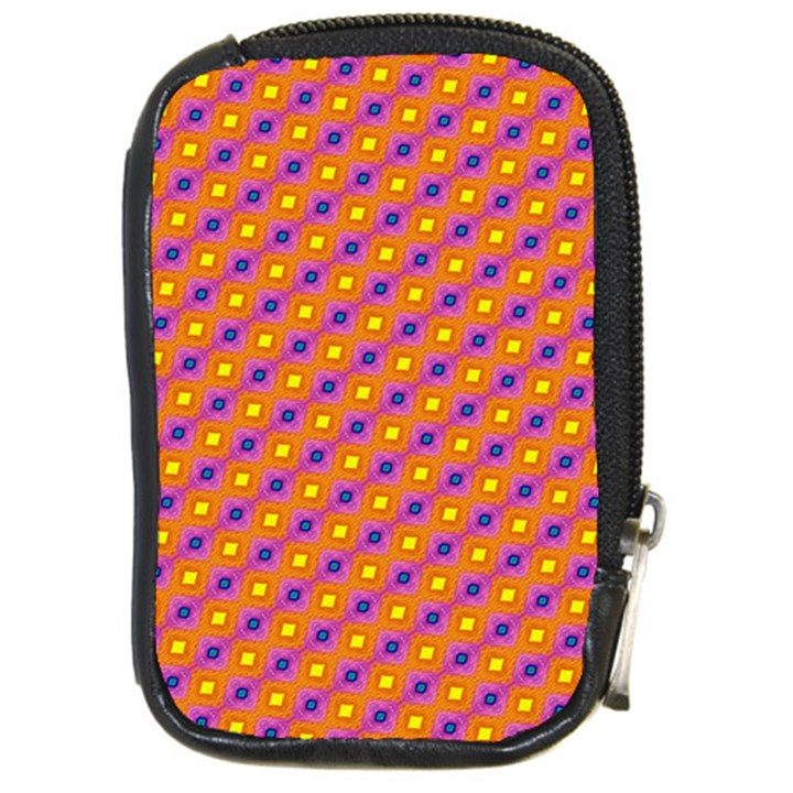 Vibrant Retro Diamond Pattern Compact Camera Cases