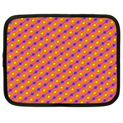 Vibrant Retro Diamond Pattern Netbook Case (XL)