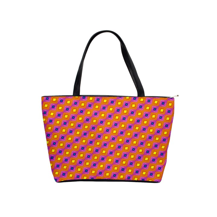 Vibrant Retro Diamond Pattern Shoulder Handbags