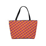 Vibrant Retro Diamond Pattern Shoulder Handbags Back
