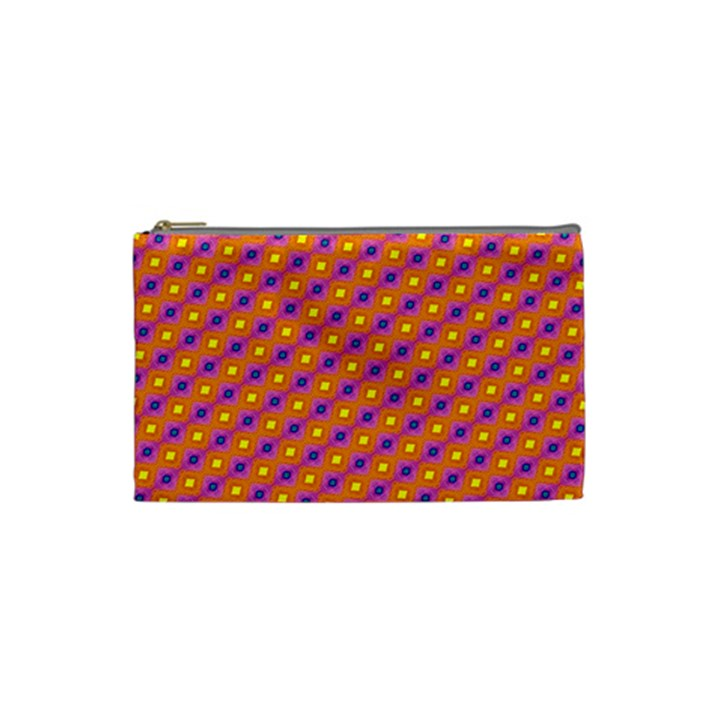 Vibrant Retro Diamond Pattern Cosmetic Bag (Small)