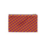 Vibrant Retro Diamond Pattern Cosmetic Bag (Small)  Back