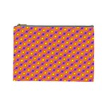 Vibrant Retro Diamond Pattern Cosmetic Bag (Large)  Front
