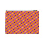 Vibrant Retro Diamond Pattern Cosmetic Bag (Large)  Back