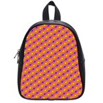 Vibrant Retro Diamond Pattern School Bags (Small)  Front