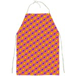 Vibrant Retro Diamond Pattern Full Print Aprons Front