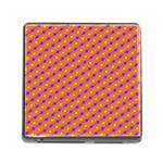 Vibrant Retro Diamond Pattern Memory Card Reader (Square) Front