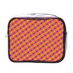 Vibrant Retro Diamond Pattern Mini Toiletries Bags Front
