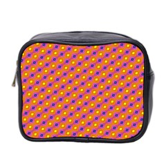 Vibrant Retro Diamond Pattern Mini Toiletries Bag 2 Side