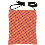 Vibrant Retro Diamond Pattern Shoulder Sling Bags Front
