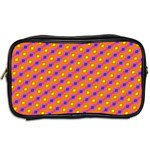 Vibrant Retro Diamond Pattern Toiletries Bags 2-Side Back