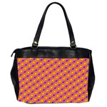 Vibrant Retro Diamond Pattern Office Handbags (2 Sides)  Back