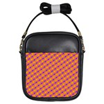 Vibrant Retro Diamond Pattern Girls Sling Bags Front