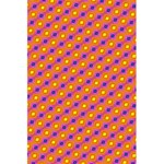 Vibrant Retro Diamond Pattern 5.5  x 8.5  Notebooks Back Cover