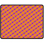 Vibrant Retro Diamond Pattern Fleece Blanket (Medium)  60 x50 Blanket Front