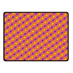 Vibrant Retro Diamond Pattern Fleece Blanket (Small) 50 x40 Blanket Front