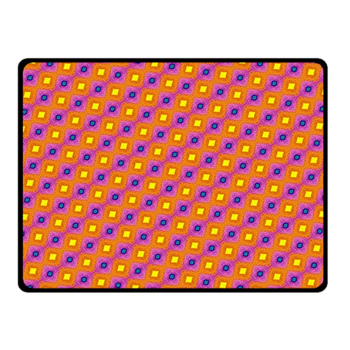 Vibrant Retro Diamond Pattern Fleece Blanket (Small)