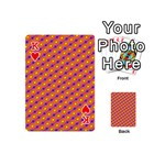 Vibrant Retro Diamond Pattern Playing Cards 54 (Mini)  Front - HeartK